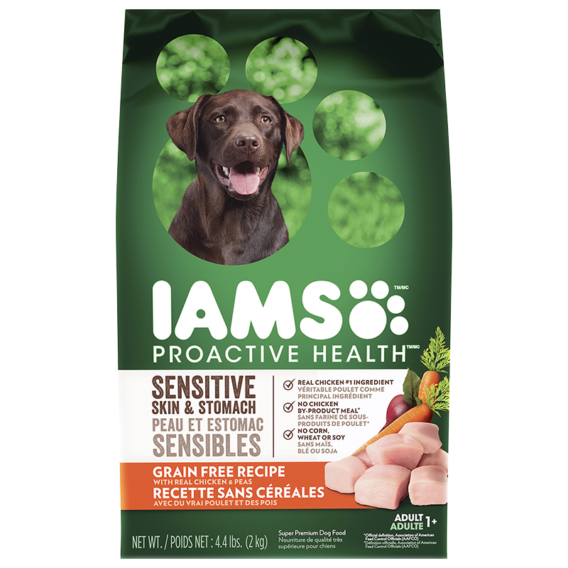 IAMS Grain Free Dog Food - Chicken and Peas - 2kg