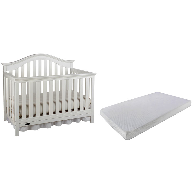 Graco Bryson 4-in-1 Convertible Crib - White + Graco ...