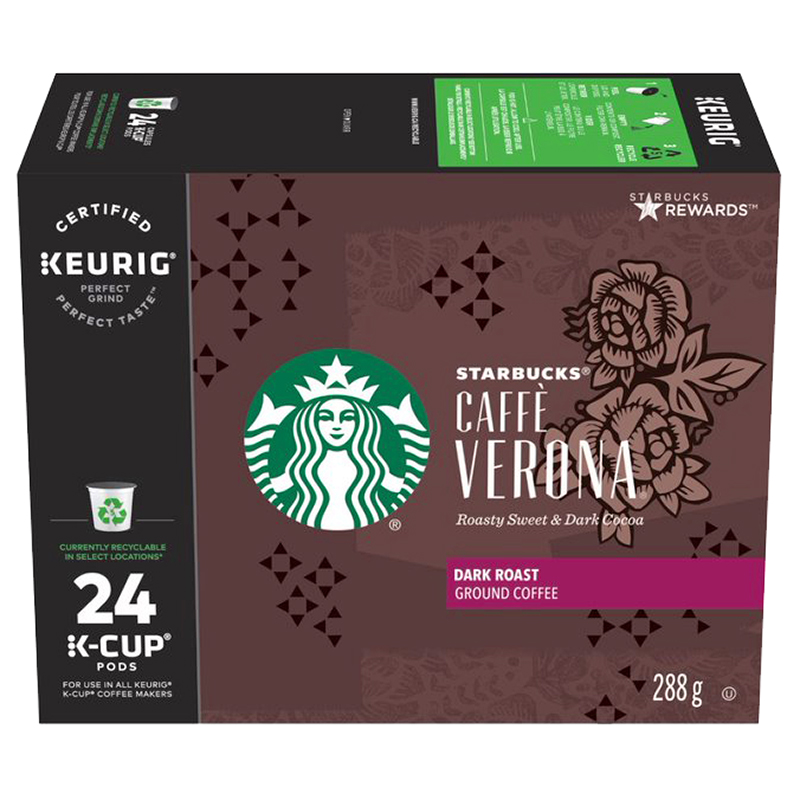 Starbucks K-Cup Caffe Verona Dark Roast Coffee - 24 Pods