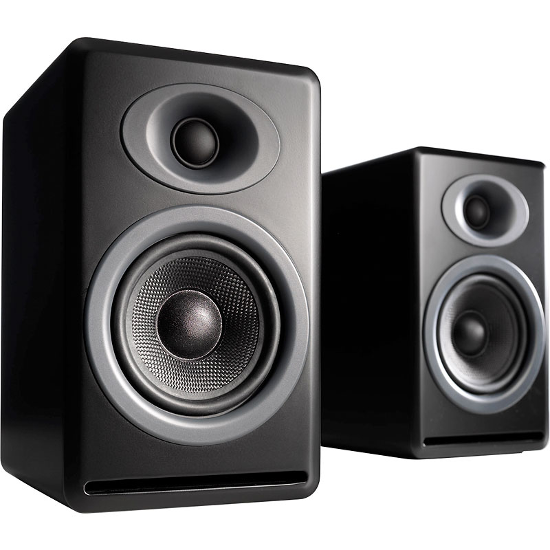 Audioengine P4 Passive Bookshelf Speakers - Black - AP4B