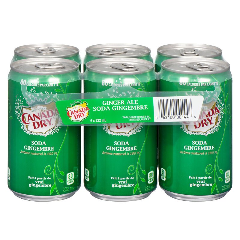 Canada Dry Gingerale - 6 x 222ml