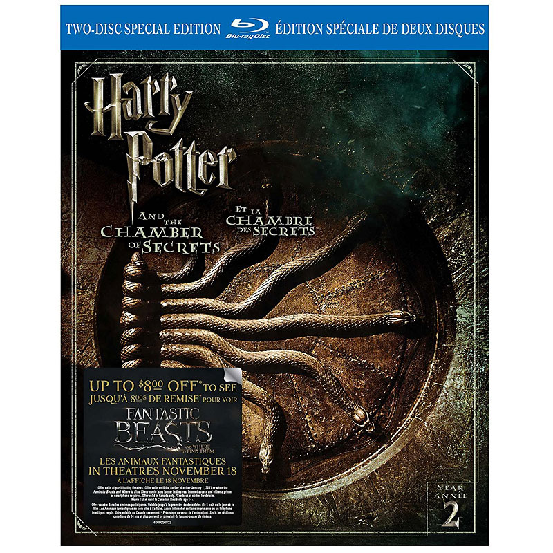 Harry Potter and the Chamber of Secrets - Blu-ray