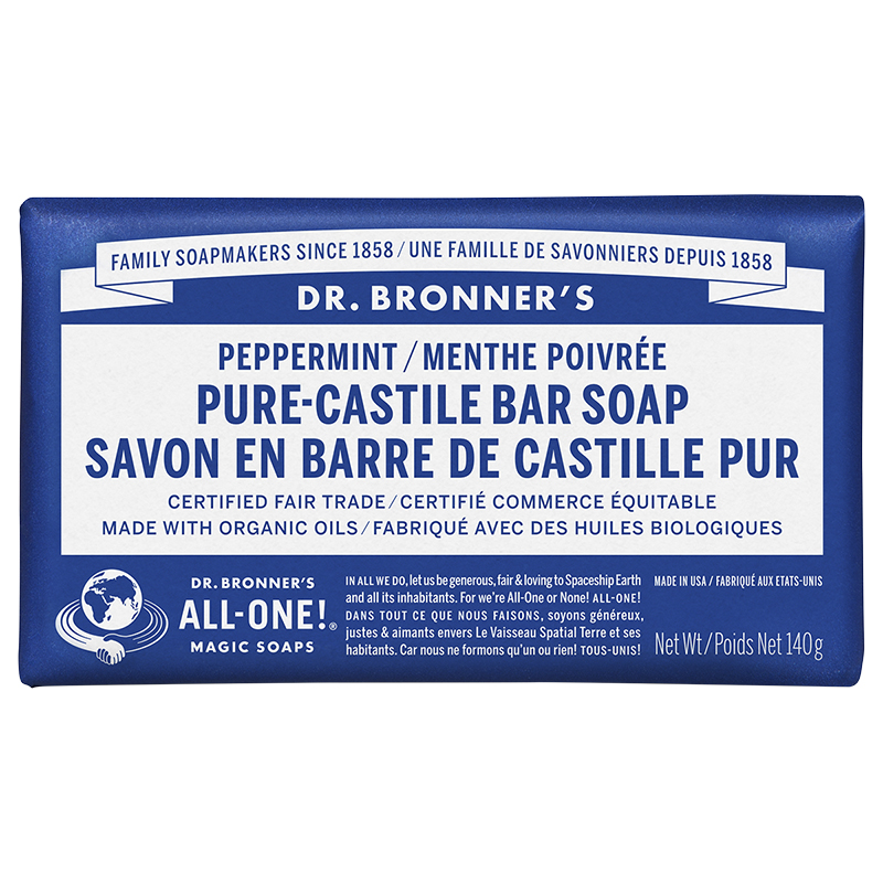 Dr. Bronner's Hemp Pure-Castile Bar Soap - Peppermint - 140g