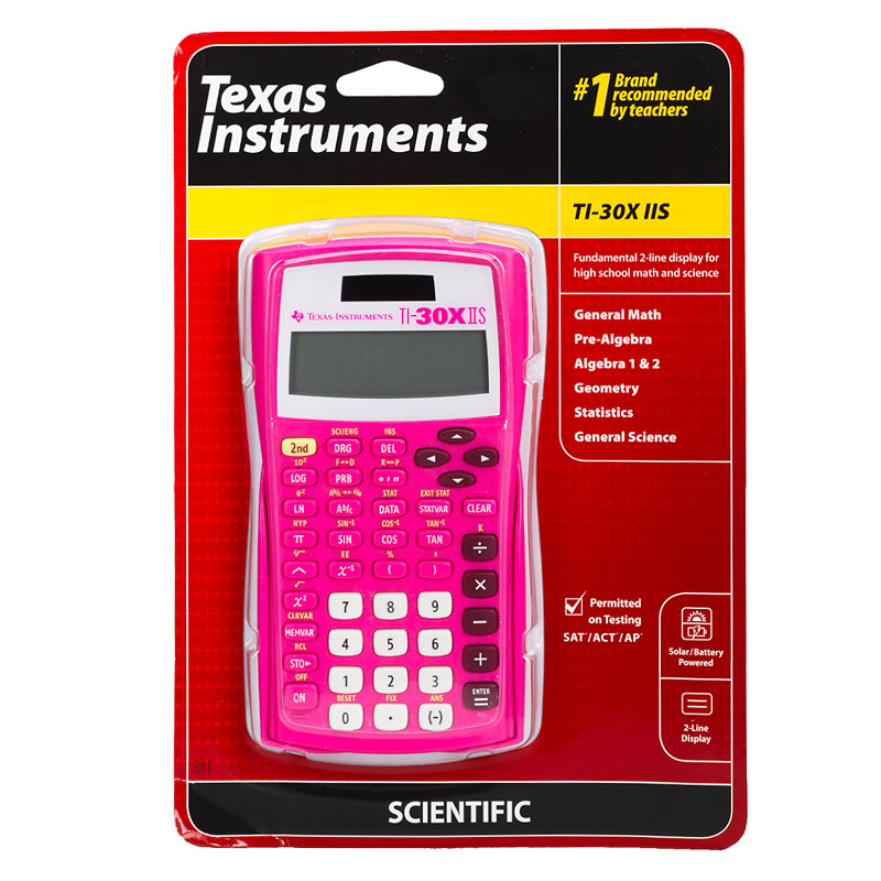T.I. 2-Line Scientific Calculator - Pink - 30XIISPINKC