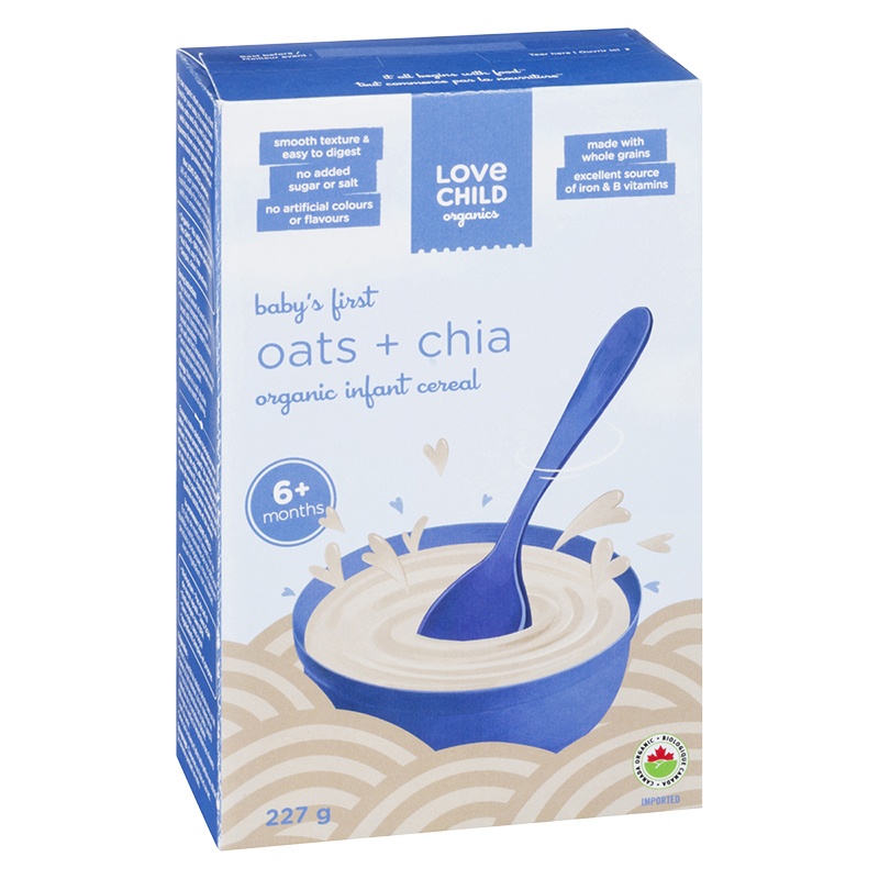 Love Child Infant Cereal - Oat and Chia - 227g
