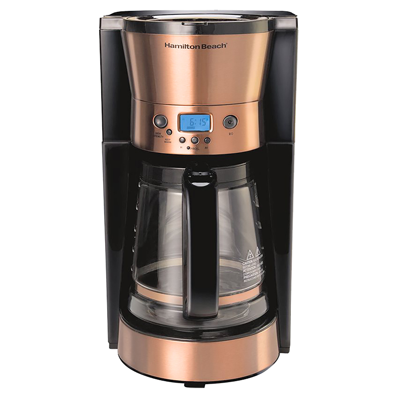 Hamilton Beach Programmable Coffee Maker - Copper - 46898