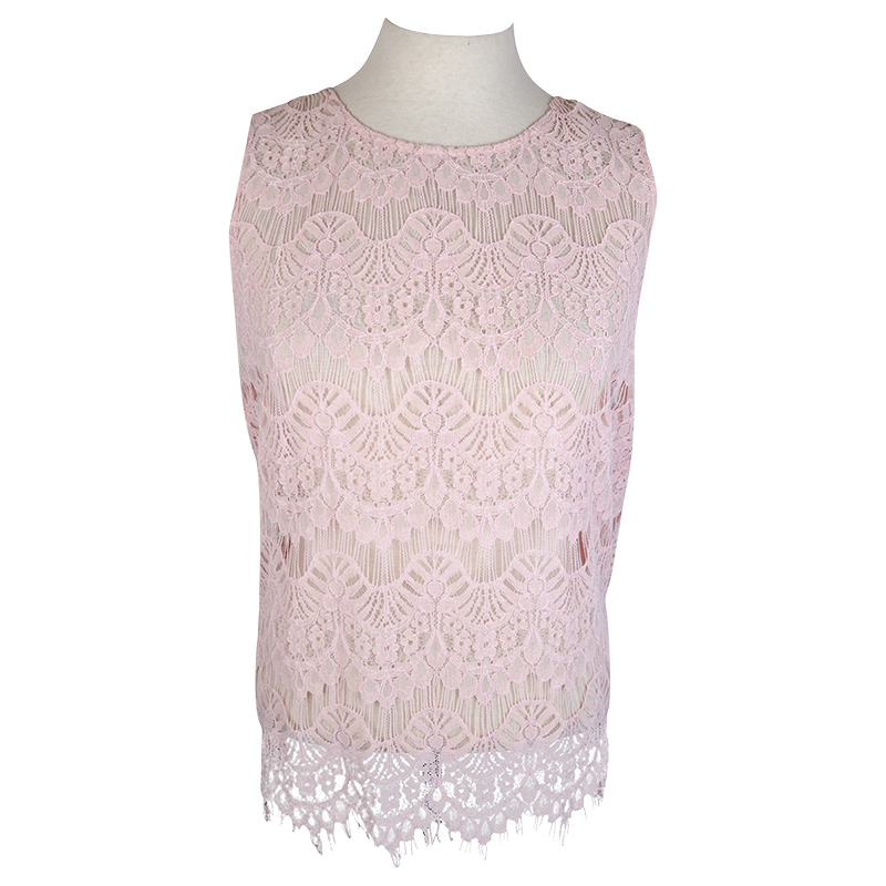 Lava Lace Open back Tank - Pink