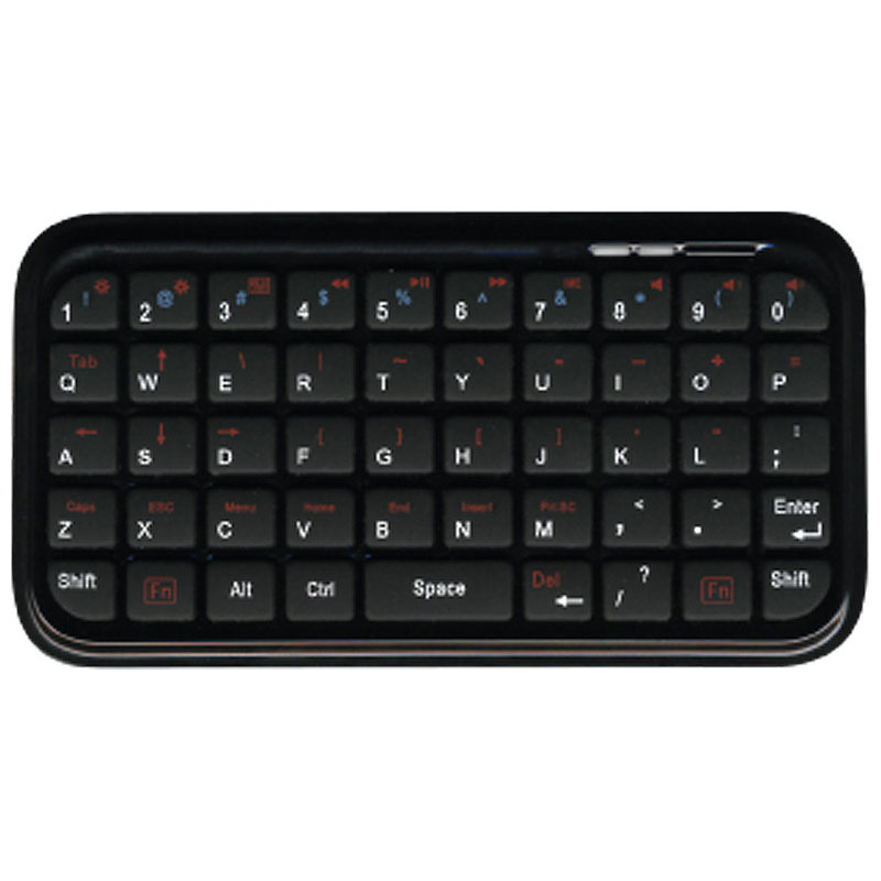 Mini Bluetooth Keyboard - Black - HS-TABSTANDKYB