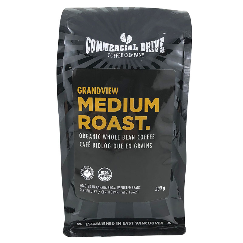 Commercial Drive Coffee - Grandview Medium Roast - Whole Bean - 300g