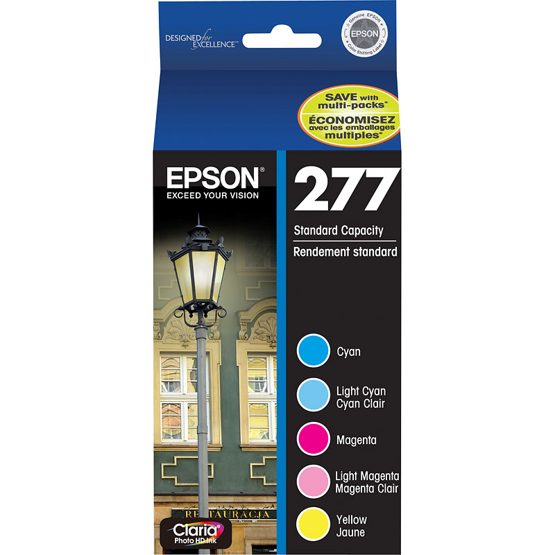 Epson 277 Multi-Pack Colour Ink Cartridges - Cyan/Magenta/Yellow/Light Cyan/Light Magenta - T277920-S