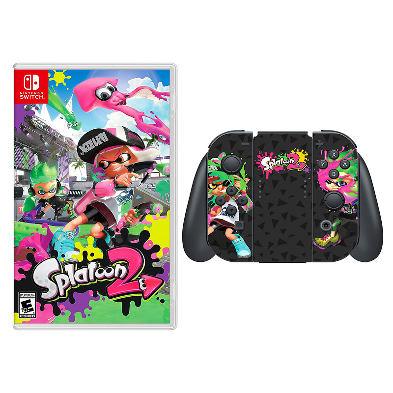 Nintendo Switch Splatoon 2 with Bonus Controller Skin