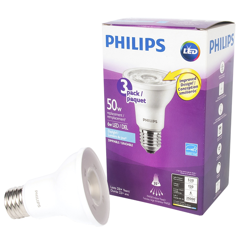 Philips PAR20 LED - Daylight - 6w/50w
