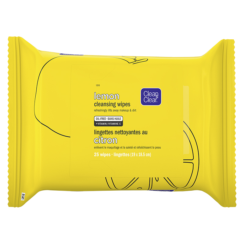 Clean & Clear Lemon Cleansing Wipes - 25's