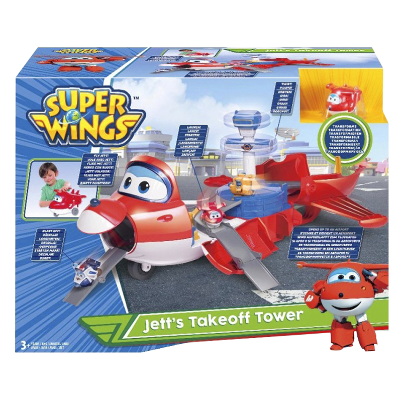Super Wings Jett Takeoff Tower 2-in-1 Playset