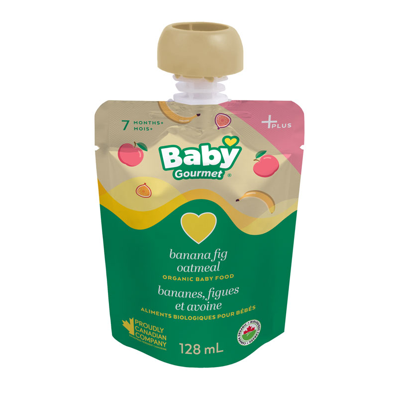 Baby Gourmet Baby Food - Banana, Apple, Fig, Oatmeal and Greek Yogurt - 128ml