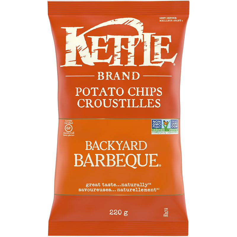 Kettle Brand Potato Chips - Backyard Barbecue - 220g