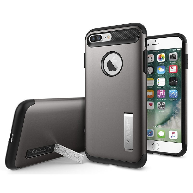 Spigen Slim Armor for iPhone 7 Plus - Gunmetal - SGP043CS20309