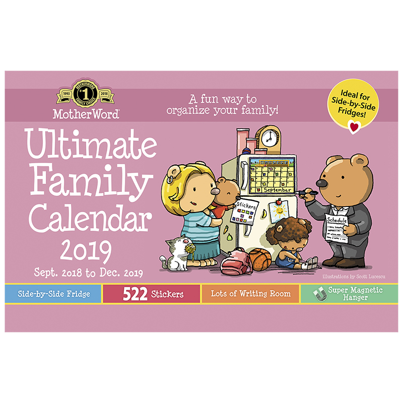 MotherWord Ultimate Family Calendar 2018/2019 - Magnetic