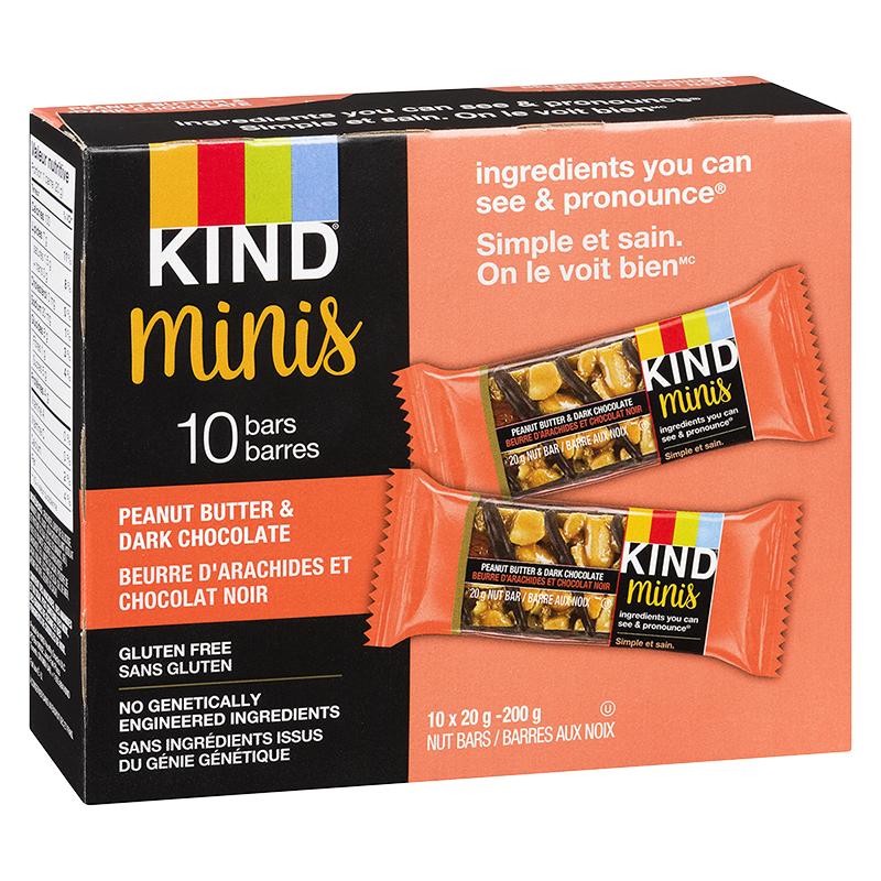 Kind Mini Bars - Peanut Butter & Dark Chocolate - 10 Pack