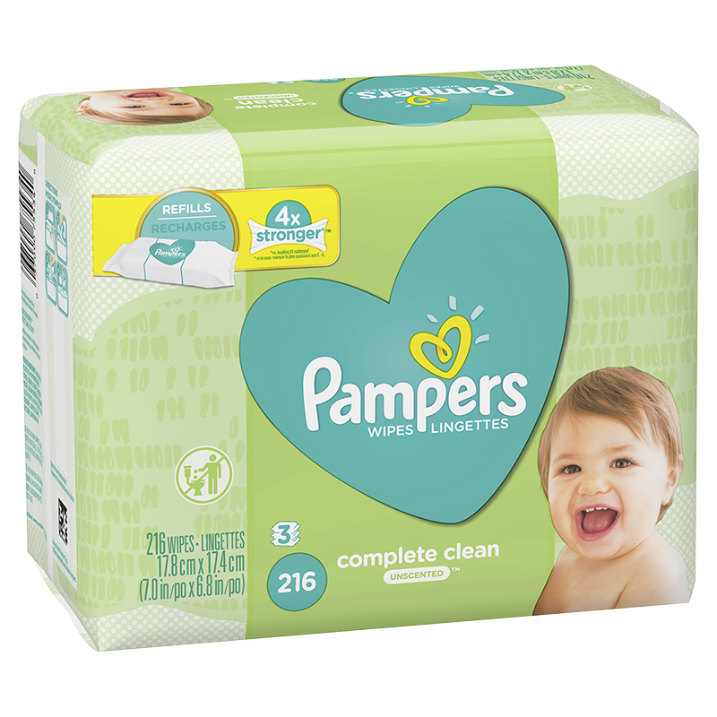 Pampers Wipes Complete Clean - Unscented - 216's
