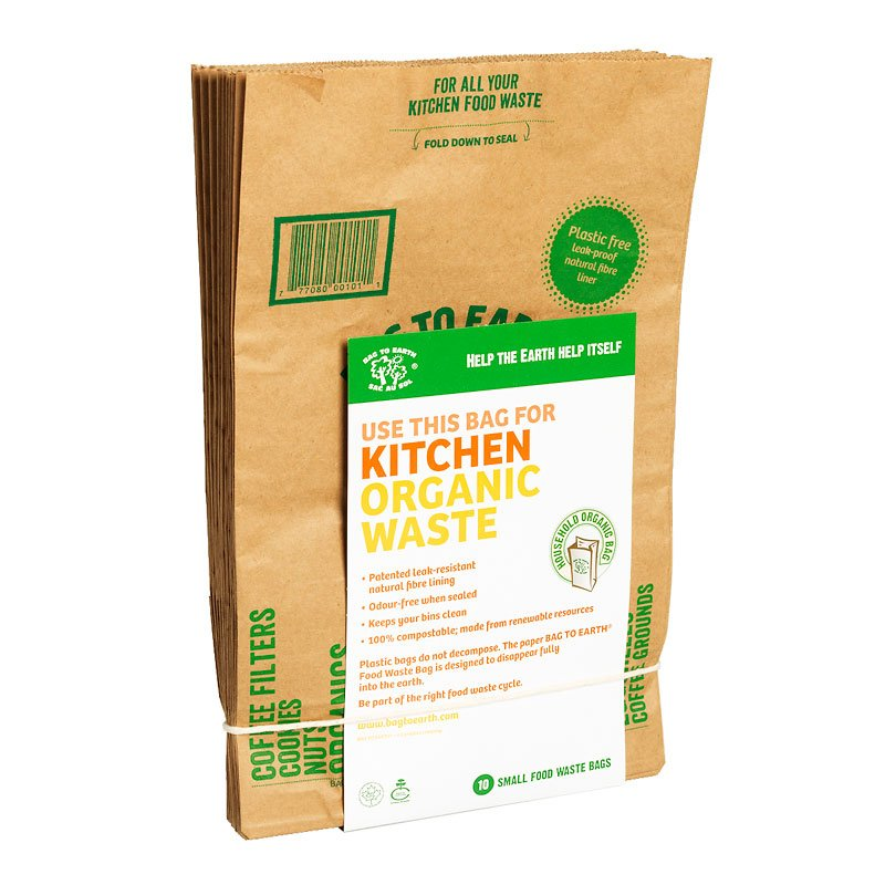 Bag To Earth Food Waste Paper Bags Small 10 Pack