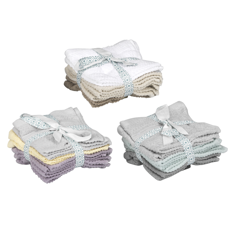 Sunbeam Face Cloth Set - 8 pack - Assorted
