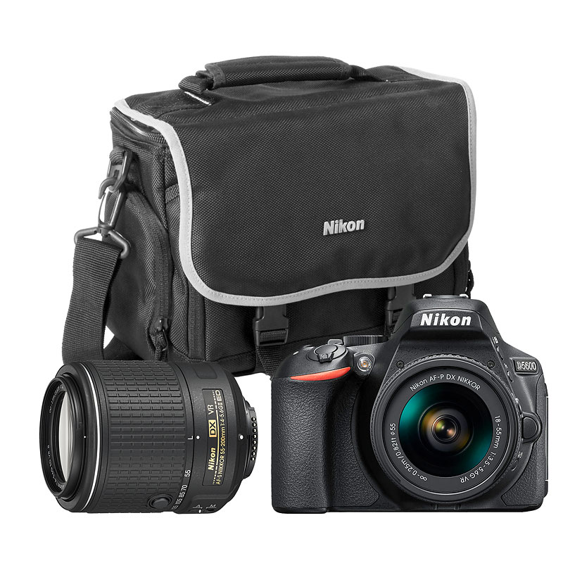 Nikon D5600 with AF-P DX 18-55mm VR and AF-S DX 55-200mm VR II Lens Kit - 30587