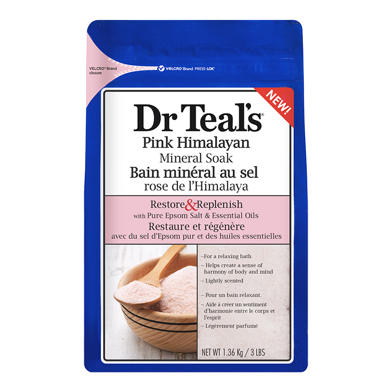 Dr Teal's Pink Himalayan Mineral Soak - Restore & Replenish - 1.36kg