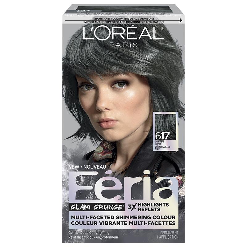 Loreal Feria Hair Colour 617 Light Teal Brown London Drugs
