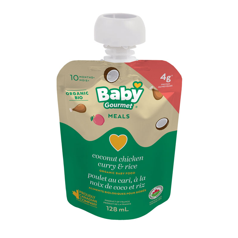 Baby Gourmet Baby Food - Coconut Chicken Curry And Rice - 128ml
