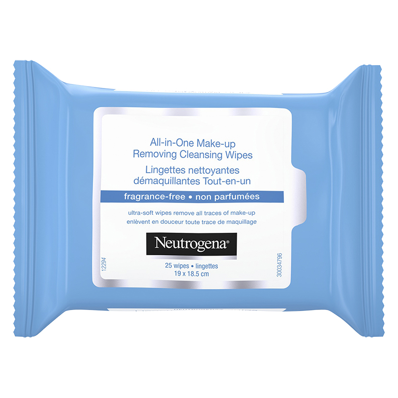 Neutrogena All-in-One Make-Up Removing Cleansing Wipes - Fragrance Free - 25's