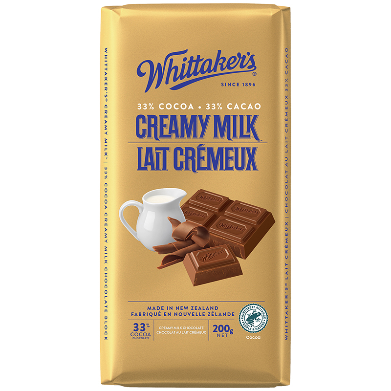 Whittaker's Milk Chocolate - Creamy Milk - 200g