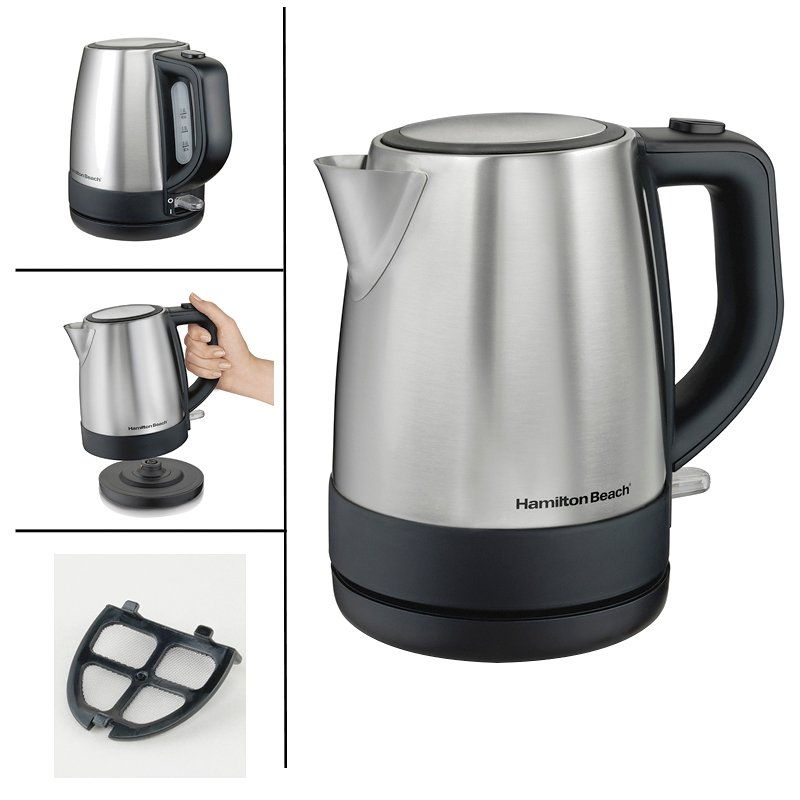Hamilton Beach Electric Kettle - Stainless Steel - 1L - 40998C