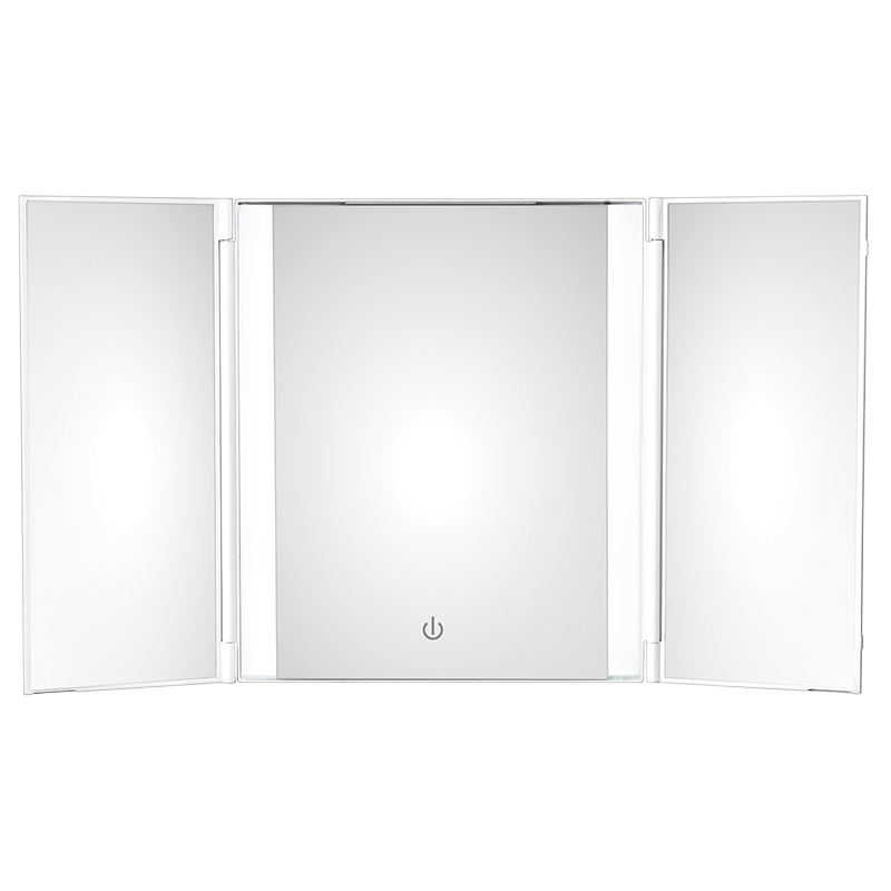 Conair 1X Trifold LED Cosmetic Mirror - White - BETP1C