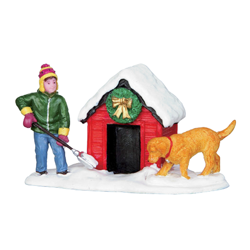 Lemax Digging Out Doghouse