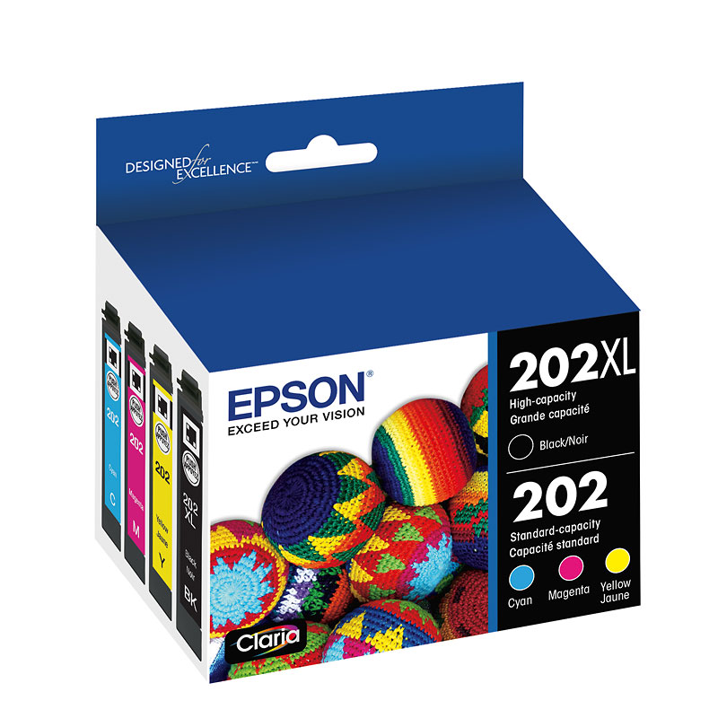 Epson 202XL/202 Claria Ink - CMYK - 4 Pack - T202XL-BCS