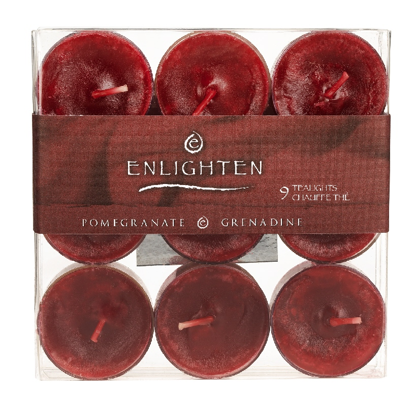 Enlighten Tealights - Pomegrante - 9 pack
