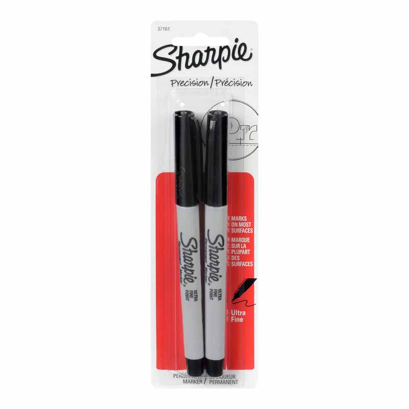 Sharpie Marker - Ultra Fine - Black - 2 pack