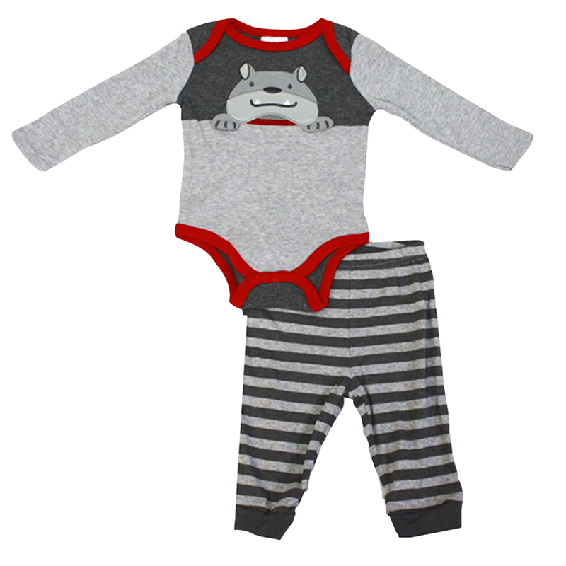 Baby Mode Woof Woof Onesie and Legging Set - 0-9 months - Assorted
