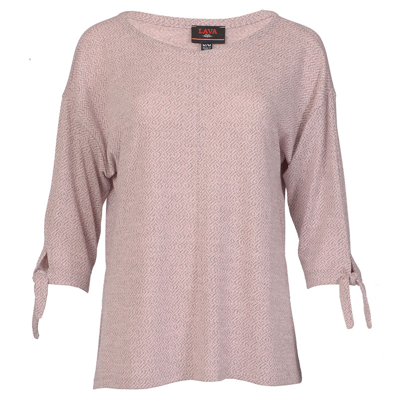 Lava Tie Sleeve Shirt - Powder Pink - Assorted