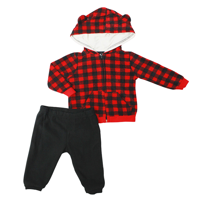 Baby Mode Buffalo Plaid Jacket Outfit - 12-24 months - Assorted