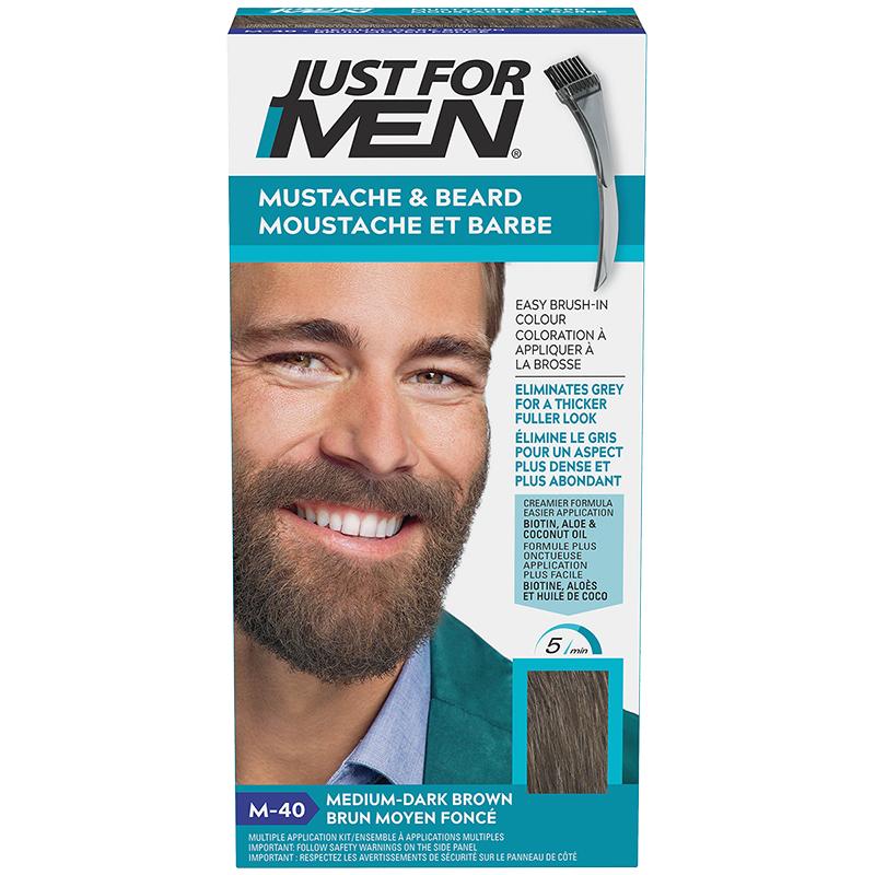 Just for Men Mustache and Beard Facial Hair Colouring - Medium Dark Brown