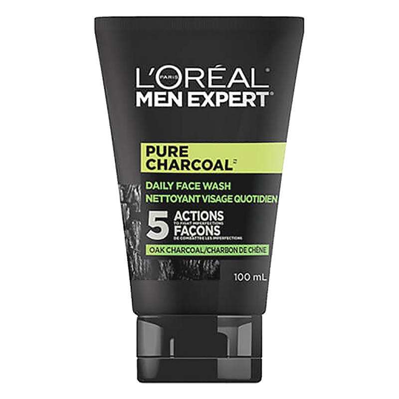 L'Oreal Men Expert Pure Charcoal Daily Face Wash - 100ml