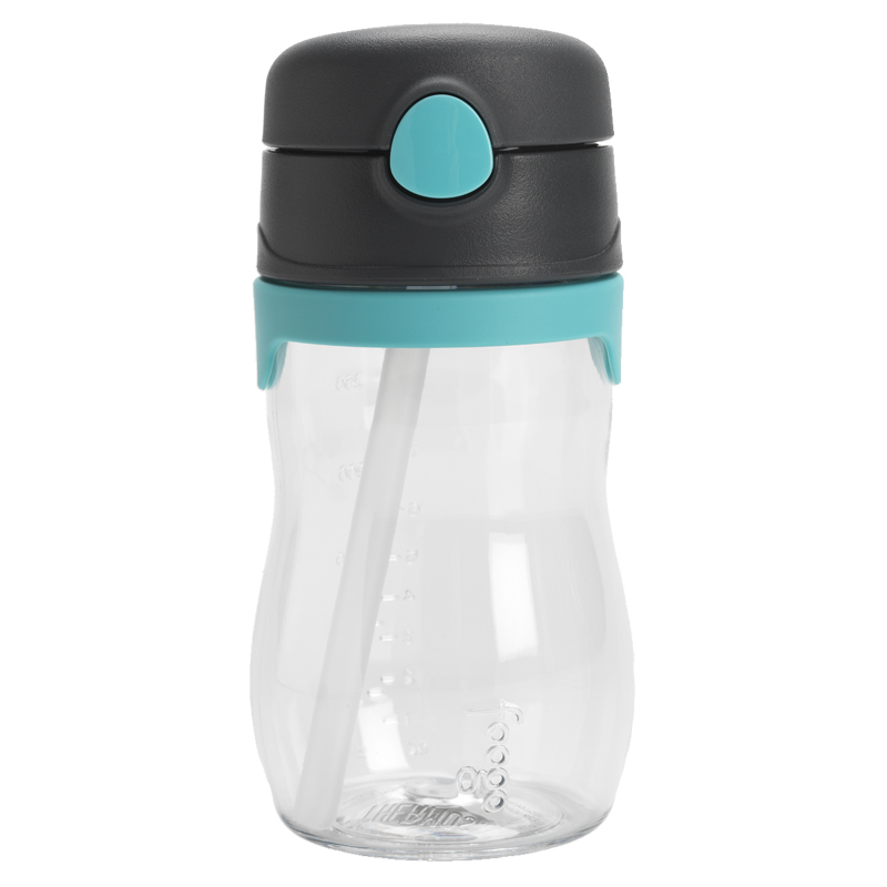 Thermos Foogo Straw Bottle - Charcoal/Turquoise - 320ml
