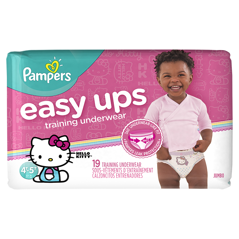 Pampers Easy Ups Training Underwear - 4T/5T - 19ct - Girls