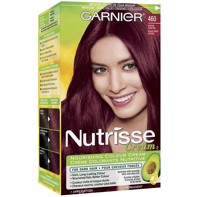 Garnier Nutrisse Cream Permanent Hair Colour 460 Intense Dark Red