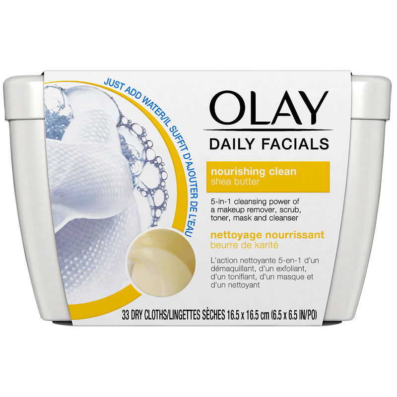 Olay Daily Facials Dry Cloths - Nourishing Clean - 33's