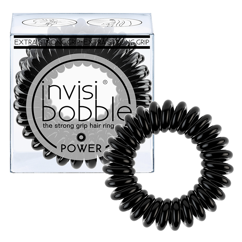 Invisibobble Power Strong Grip Hair Ring - True Black