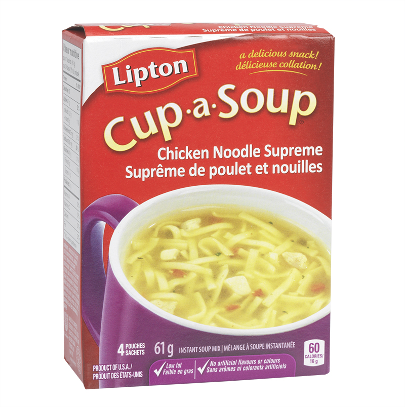 Knorr Lipton Cup-A-Soup Chicken Noodle Supreme Instant Soup Mix - 4 pack/61g