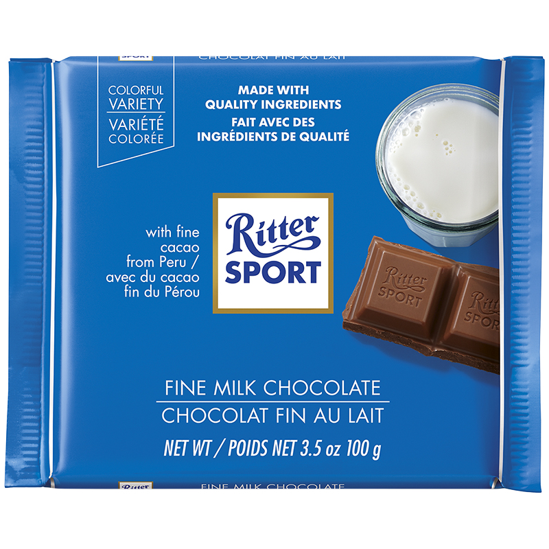 Ritter Sport - Fine Milk Chocolate - 100g